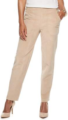 Croft & Barrow Petite Pull-On Mid-Rise Corduroy Pants