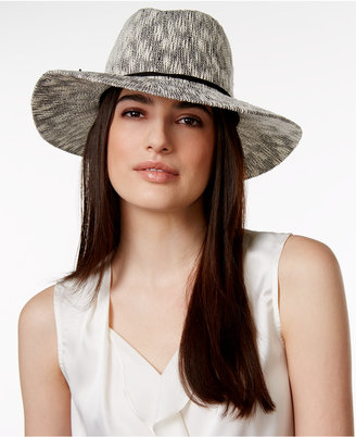 Collection XIIX Two Tone Slubby Knit Packable Panama Hat $36 thestylecure.com