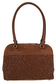Tignanello Vintage Leather Floral Dome Shopper-Florence