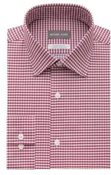 Michael Kors Checkered Regular-Fit Dress Shirt