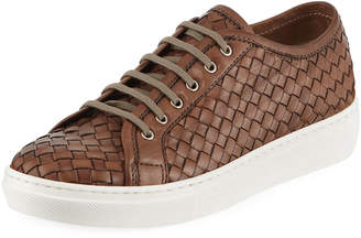 Sesto Meucci Nudara Woven Leather Low-Top Sneakers