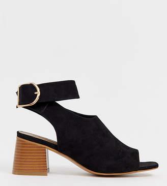 Asos Design DESIGN Wide Fit Trina peep toe shoe boots