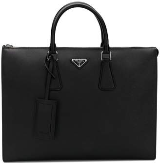 Prada round top-handle tote