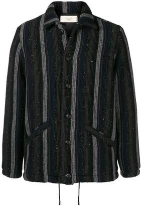 Maison Flaneur striped knitted jacket
