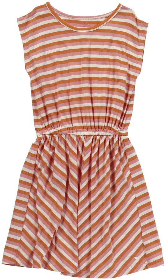 Pink Chicken Rose Dress - Almond Buff/Primrose Yellow-7/8 Years