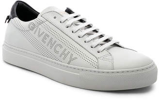 Givenchy Urban Street Perforated Sneakers in White & Black | FWRD