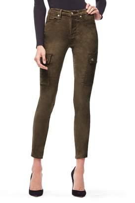 Good American Good Legs Crop Suede-Like - Olive002