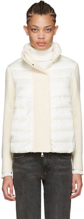 Moncler Moncler Off-White Quilted Down Jacket