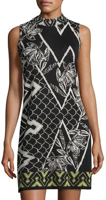 NIC+ZOE Shattered Floral-Print Knit Shift Dress, Multi $119 thestylecure.com