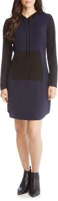Karen Kane Contrast Hoodie Dress