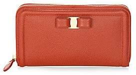 Salvatore Ferragamo Women's Leather Zip-Around Wallet
