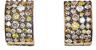 Ileana Makri Women's Cuff Hoop Earrings - Yellow Gold