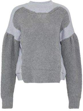 McQ Knitted And Mélange Cotton-Jersey Sweatshirt