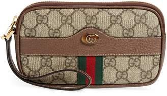 Gucci Ophidia GG Supreme Canvas Wristlet