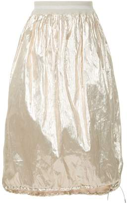 Fabiana Filippi lightweight metallic skirt