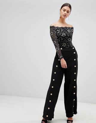Forever Unique Button Detail Pants