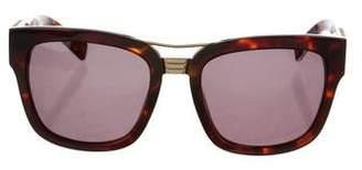 Balmain Tortoiseshell Square Sunglasses w/ Tags