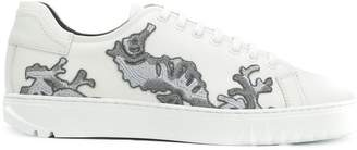 Salvatore Ferragamo embroidered lace-up sneakers