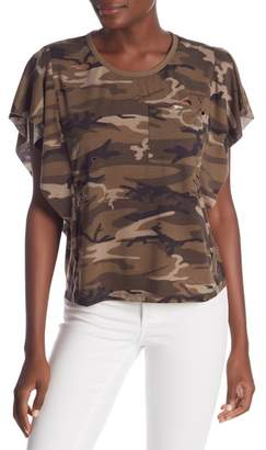 Dance and Marvel Distressed Camo Crew Tee