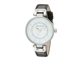 Anne Klein 109169WTBK Round Dial Leather Strap Watch