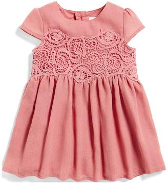 Mamas and Papas Baby Girls Lace Crepe Dress