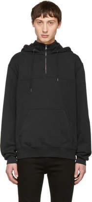 Frame Black Half-Zip Hoodie