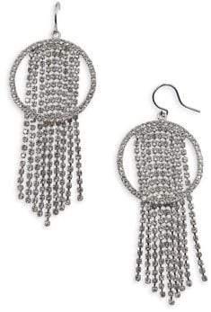 CRISTABELLE Crystal Fringe-Hoop Earrings