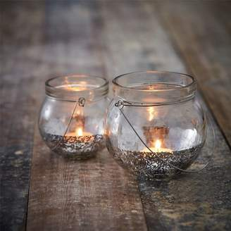 The Contemporary Home Silver Dipped Tea Light Holder