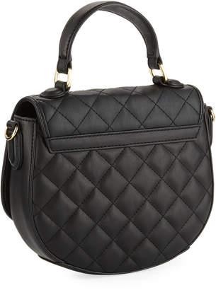 Love Moschino Quilted Faux-Leather Top-Handle Bag