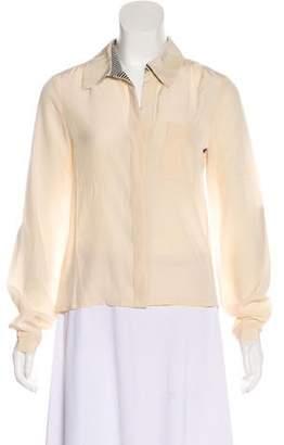 Diane von Furstenberg Long-Sleeve Button-Up Top