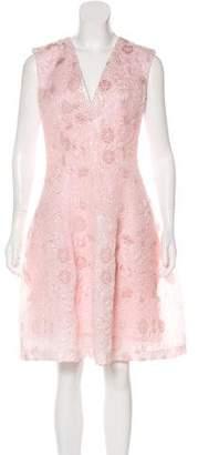 Talbot Runhof Jacquard Cocktail Dress