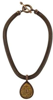 Stephen Dweck Carved Quartz Necklace