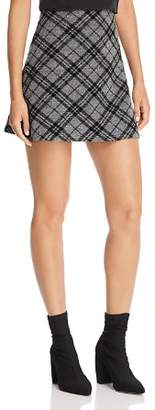 Aqua Flocked Plaid A-Line Mini Skirt - 100% Exclusive