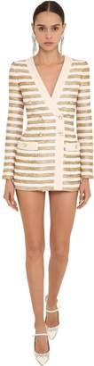 Striped Lurex Tweed Blazer Dress