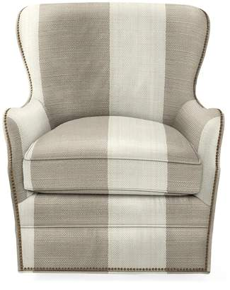 Serena & Lily Thompson Swivel Chair with Nailheads