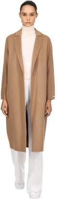 Double Wool Wrap Long Coat