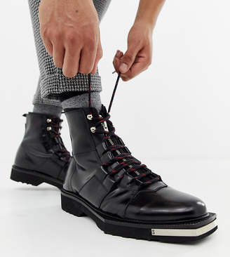 Asos Design DESIGN x LaQuan Smith leather lace up boot