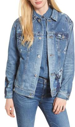 AG Jeans The Nancy Distressed Denim Jacket