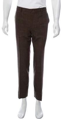 Etro Wool Plaid Pants