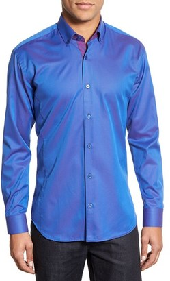 Men's Maceoo Contemporary Fit Iridescent Sport Shirt $169 thestylecure.com