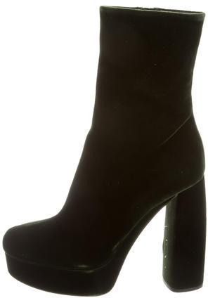 Miu MiuMiu Miu 2017 Velvet Platform Ankle Boots