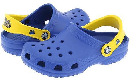 Crocs Kids - Collegiate Cayman (Toddler/Youth) (UCLA Navy/Yellow)