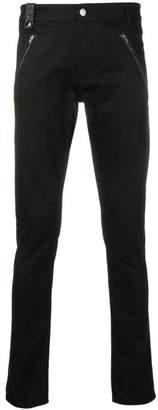 Alexander McQueen leather detailing slim jeans