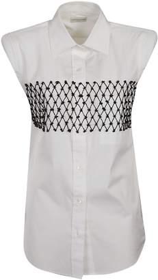 Dries Van Noten Net Detail Sleeveless Shirt