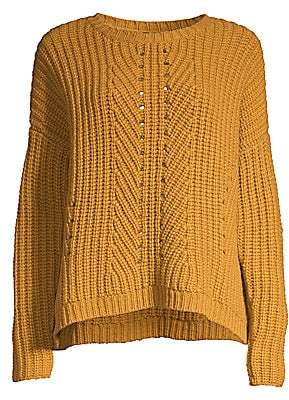 Eileen Fisher Women's Chunky Cashmere-Blend Knit Sweater