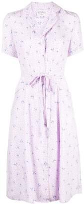 HVN flamingo print shirt dress