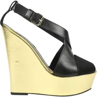 Giambattista Valli Black Leather Heels