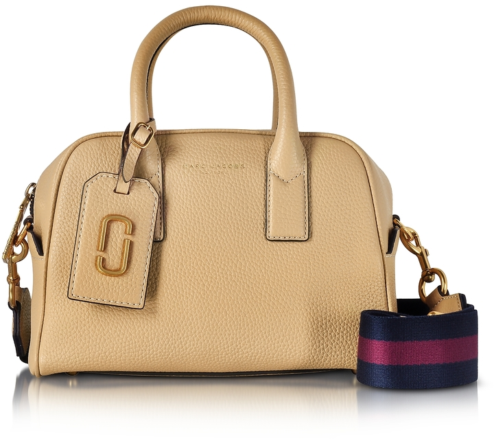 Marc Jacobs Marc Jacobs Gotham Sand Leather Small Bauletto