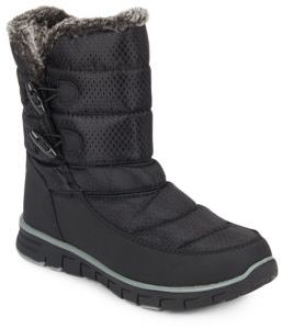 Ashley Faux Fur-Trimmed Quilted Boots $99 thestylecure.com