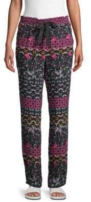 Josie Natori Floral Drawstring Pants